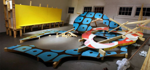 Push, Pull, Play:  Kirsten Reynolds's Site Specific Constructions at Blue Star Contemporary