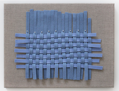 Jessica Halonen, Remnant (Blue Weave), Courtesy the Artist and David Shelton Gallery