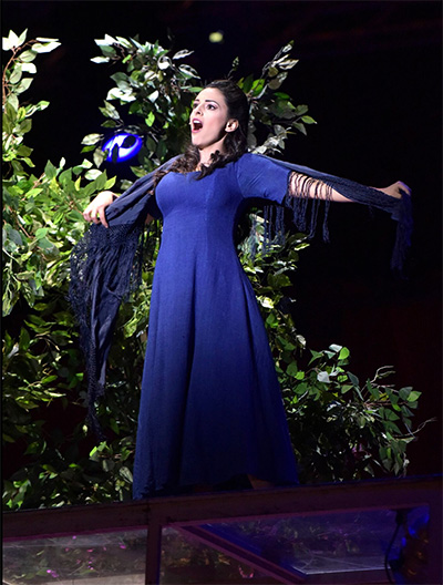 Hila Fahima as Gilda in Rigoletto at the Jerusalem Opera Festival. Photo by Yossi Zwecker.