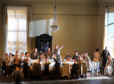 The Israeli Opera's production of Onegin. Photo by Yossi Zwecker.