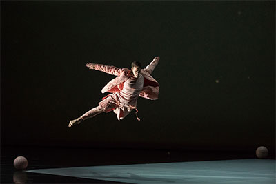 Albert Drake in Jonah Bokaer's Rules of the Game performed as part of Dallas Symphony's Soluna Festival at Winspear Opera House. Photo by Amitava Sarkar.