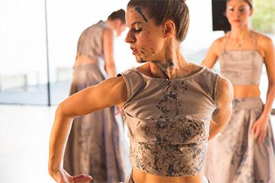 Kelsey Gibbs, Axiom Quartet in Frameworks Dance Artistic director Lydia Hance's Drift at Asia Society Texas Center. Photo by Lynn Lane.
