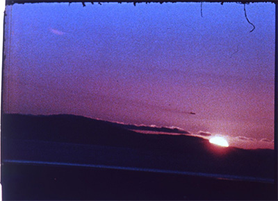 Film still from Andy Warhol, Sunset, 1967, 16mm film, color, sound, 33 minutes. ©2016 The Andy Warhol Museum, Pittsburgh, PA, a museum of Carnegie Institute. All rights reserved. Film still courtesy The Andy Warhol Museum.