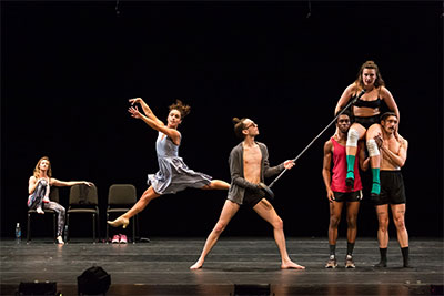 CORE Performance Company members Erik Thurmond, Anna Bracewell Crowder, Andrew Ritfeld, Joshua Rackliffe, Stefanie Boettle and Rose Shields in American Playground (excerpts).