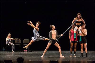 CORE Performance Company members Erik Thurmond, Anna Bracewell Crowder, Andrew Ritfeld, Joshua Rackliffe, Stefanie Boettle and Rose Shields in American Playground (excerpts).