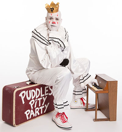Puddles Pity Party runs Nov. 4 at at the Neuhaus Stage at the Alley Theatre. Photo courtesy of the artist.