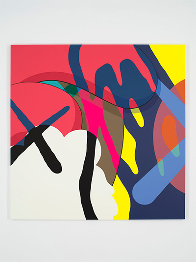 KAWS, NYT, 2016. Acrylic on canvas Overall: 96 ×96 ×1 1/2 in. (243.84 ×243.84 ×3.81 cm) Collection of the Artist.