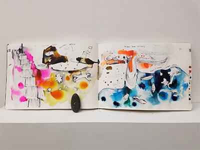 Marcos Lutyens, Trinity River Project: Ten Inductions, 2016, sketchbook, paintings.