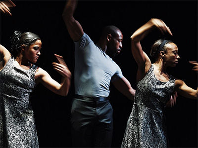 Courtney D. Jones, Candace Rattliff Tompkins, Alonzo Moore in Jane Weiner's Called Back. Photo by Simon Gentry.