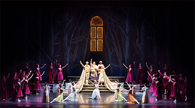 Artists of Pennsylvania Ballet in Ben Stevenson's Cinderella. Photo by Alexander Iziliaev.