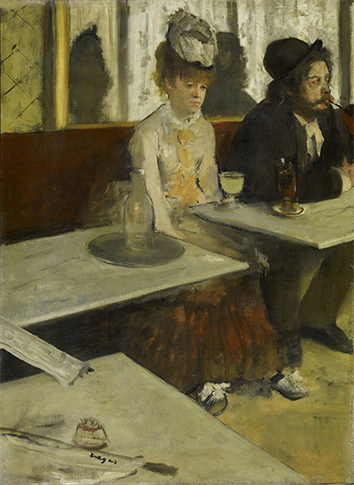Edgar Degas, In a Café, 1875–76, oil on canvas, Musée d'Orsay, Paris.
