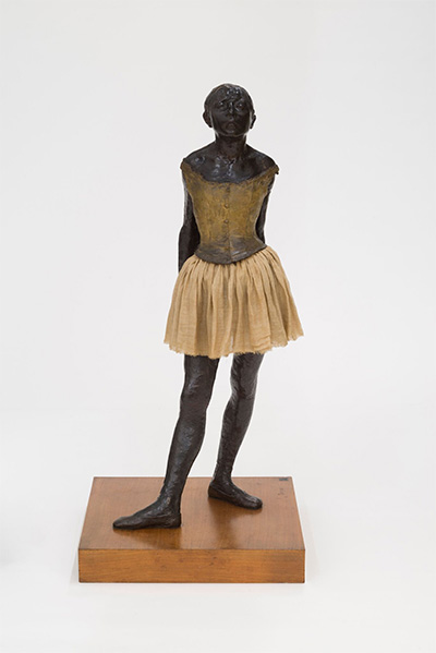 Edgar Degas, The little fourteen-year-old dancer, 1879–81, bronze with cotton skirt and satin ribbon, Museu de Arte de São Paulo, Assis Chateaubriand.
