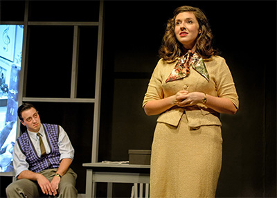 Jacob Grant (Nathan) and Melissa Rosenberg (Katharine).