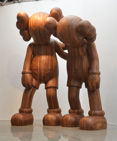KAWS, ALONG THE WAY, 2013. Wood. Overall:96 7/8 ×75 ×51 1/4 in. (246 ×190.5 ×130.18 cm) Collection of the Artist.