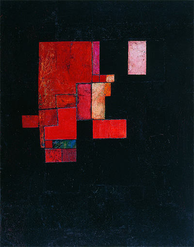 Pablo Palazuelo (Spanish, 1915-2007), Sur noir (On Black), 1948. Oil on canvas. Asociación Colección Arte Contemporáneo, Museo Patio Herreriano.