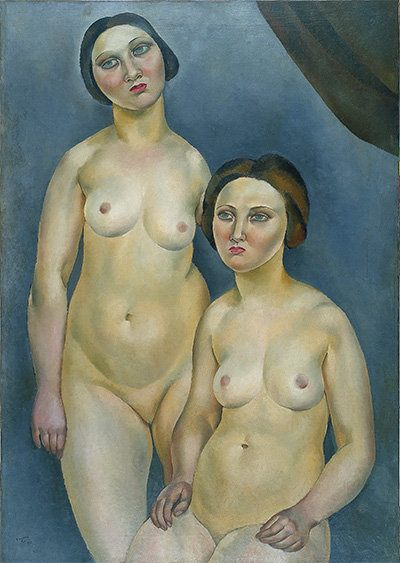 Josep de Togores (Spanish, 1893-1970), Two Nudes, 1921. Oil on canvas. Asociación Colección Arte Contemporáneo, Museo Patio Herreriano.